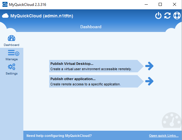 Publish Virtual Desktop